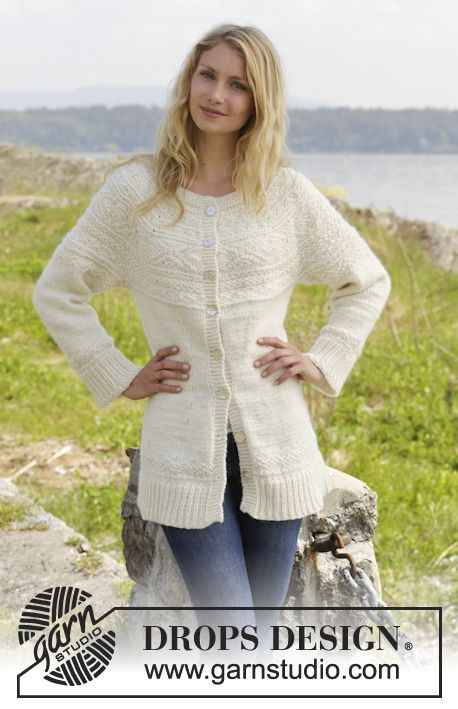 A very pretty jacket with textured pattern! by #garnstudio, pattern now available! #knitting #aw2014