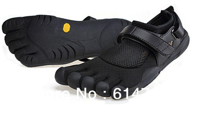 Sapatos com os pés descalços com escalada resistência ao deslizamento sola de borracha com cinco toes separados