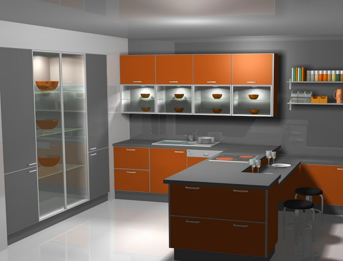 Dise o de cocinas cocinas naranjas madrid prox - Cocina moderna madrid ...