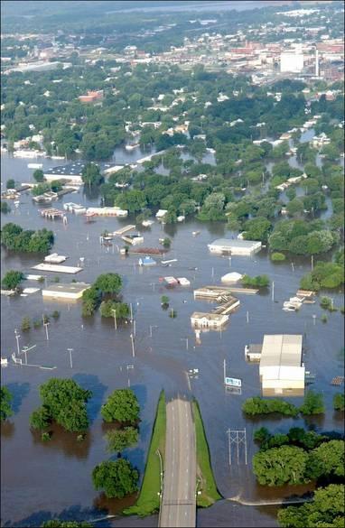 Coffeyville, KS - circa July 2, 2007 Flood