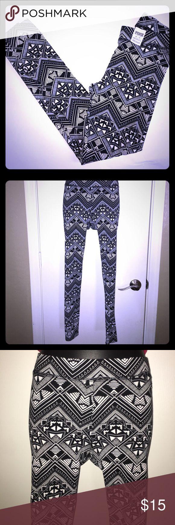 Leggings Black and white tribal print leggings PINK Victoria's Secret Pants Leggings