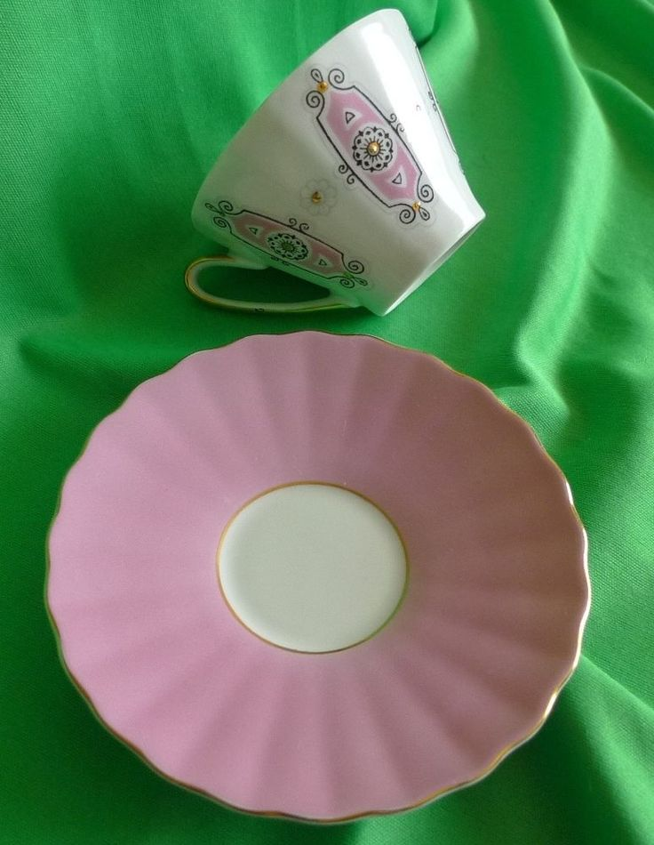 Vintage Latvia USSR Soviet pottery porcelain RPR Riga Coffee cup and saucer #RPR