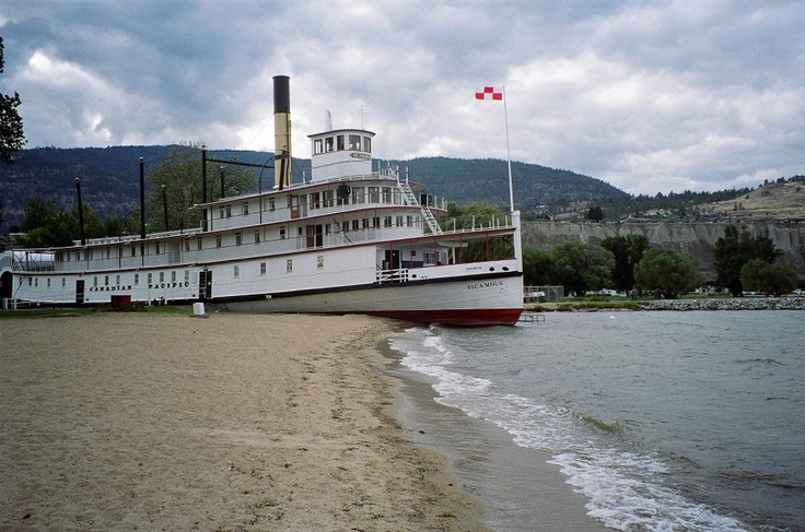 The SS Sicamous, paddle wheel boat from the 1920s, Okanagan Beach, Penticton, British Columbia