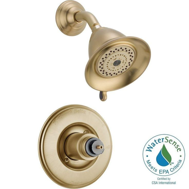 Delta Victorian 1 Handle 3 Spray Shower Faucet Trim Kit In Champagne Bronze Valve And Handles Not Included Delta Faucets Shower Faucet Faucet