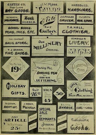 various show cards