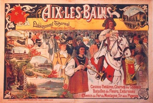 #aix-les-Bains #lacbourget #savoie #alpes #thermalisme #vintage #affiche #collection #casino #théâtre