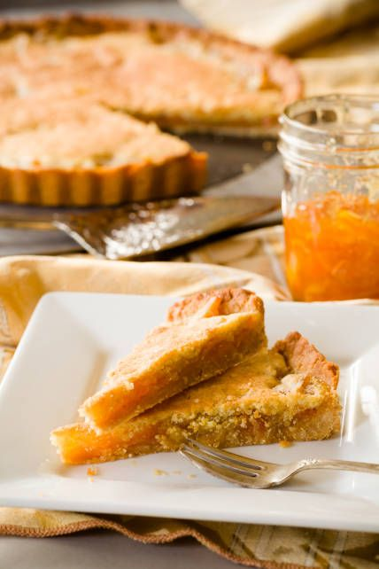 A British Bakewell tart is a tart with a layer of jam and a layer of frangipane (almond filling).  This one has a twist in that in uses orange marmalade and has an incredible salted honey crust.  It's super easy and can be altered to use any jam or nuts you have on hand!  It's not the same recipe that Mary Berry uses, but it's twist that you won't regret.