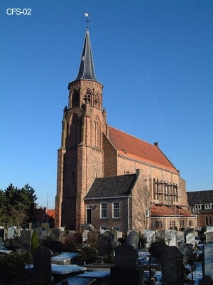 Abdijkerk Loosduinen. the oldest church in The Hague, the Netherlands ( Protestant church)