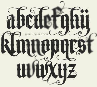 Fuentes membrete / fonts LHF Unlovable / inglés antiguo
