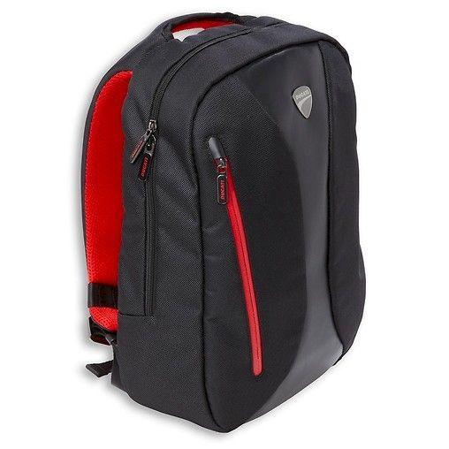 """Plecak Ducati - idealny do codziennego użytkowania. Regulowane paski, kieszeń na laptop 15,6"""". Wykonany z poliestru i eco skóry, wym. 44x30x12 cm. #ducati"""