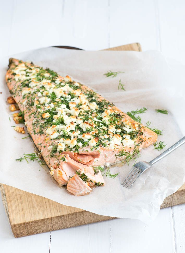 hele zalm met kruidenkorst uit de oven - Powered by @ultimaterecipe