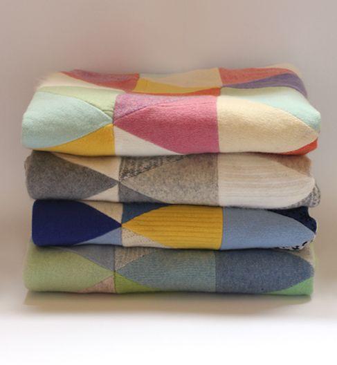 Patchwork Blanket - Greys