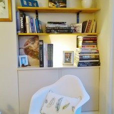 feather cushions and Eames chair for a cosy area in a sitting room
