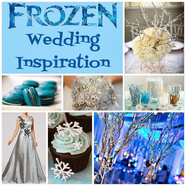 Frozen Wedding Inspiration Board - not the dress or flowers though