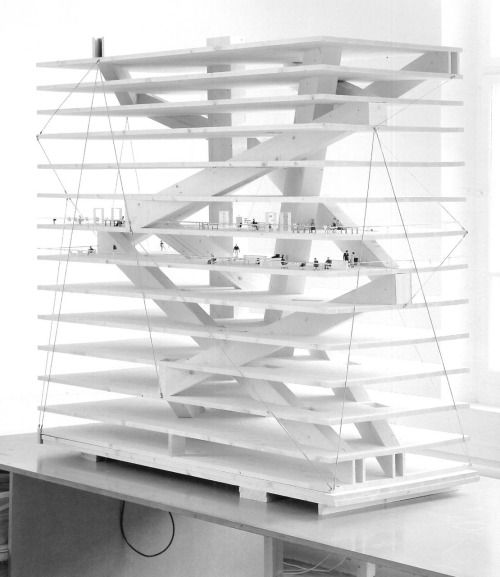 nickkahler:  Christian Kerez, Model for the Swiss-Re Next Offices, Zurich, Switzerland, 2008(viasubtilitas)