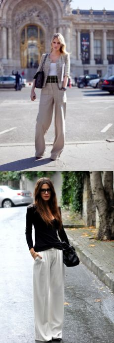 Идея образа: брюки-палаццо на работу — Модно / Nemodno