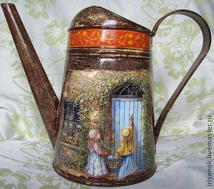 """Лейки ручной работы. Ярмарка Мастеров - ручная работа """"В старом саду"""", лейка. Handmade."""