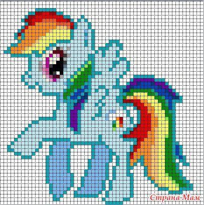 Схемки поняшек из м/ф My little pony - Вышивка и все о ней - Страна Мам