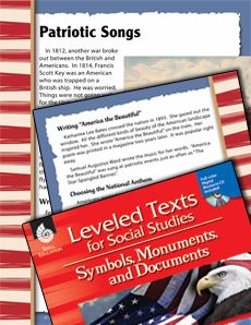 Our #leveledtexts written at four reading levels ensure that all students can learn about patriotic American songs! Provided comprehension questions complement the text. #differentiation