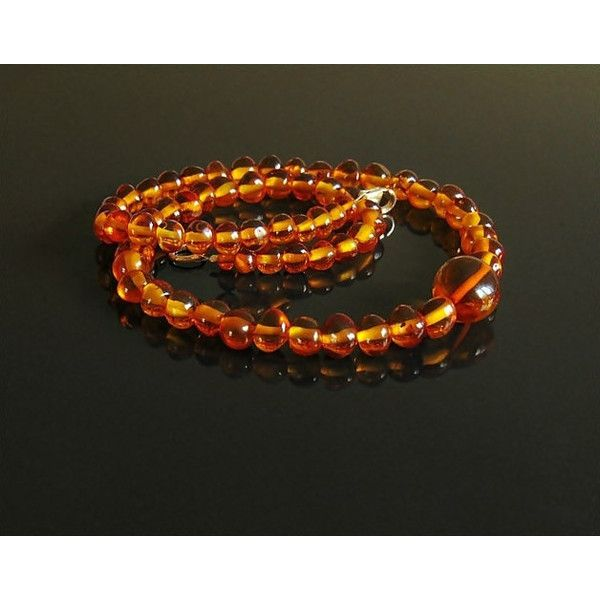 Baltic Amber Necklace, amber jewelry, amber necklace, baltic amber,... (270 PLN) ❤ liked on Polyvore featuring jewelry, necklaces, amber necklace, amber jewellery and amber jewelry