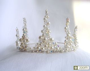 Image detail for -pearl bridal crown this exquisite tiara is made up of 5 points each ...