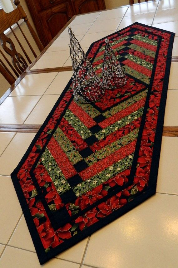 Handcrafted Large Pointsettia & Holly French by Quiltsbysuewaldrep, $80.00