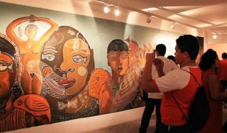 Pré-bienal de Artes lançada nesta sexta reúne 200 obras de artistas do Amazonas. Foto: Patrícia Correia.