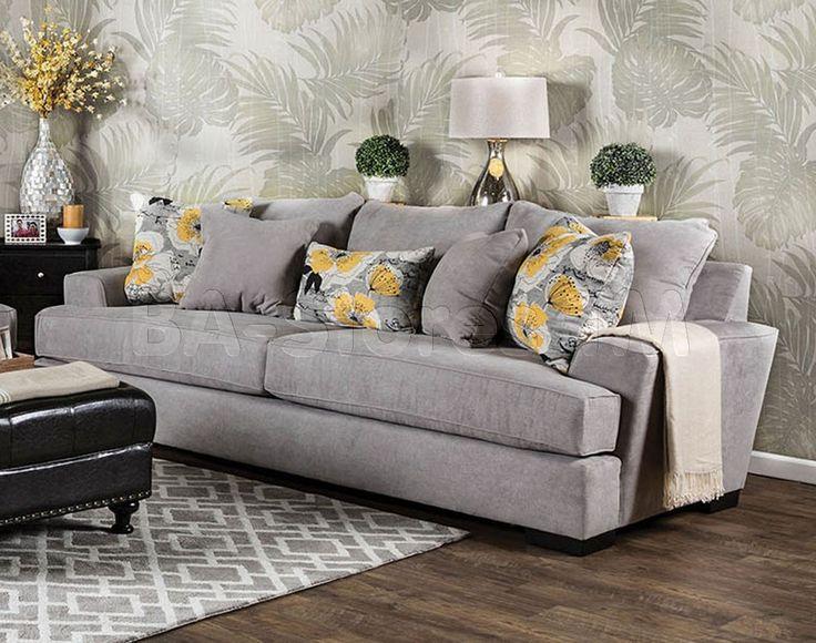 Cashel Sofa In Grey By Furniture Of America