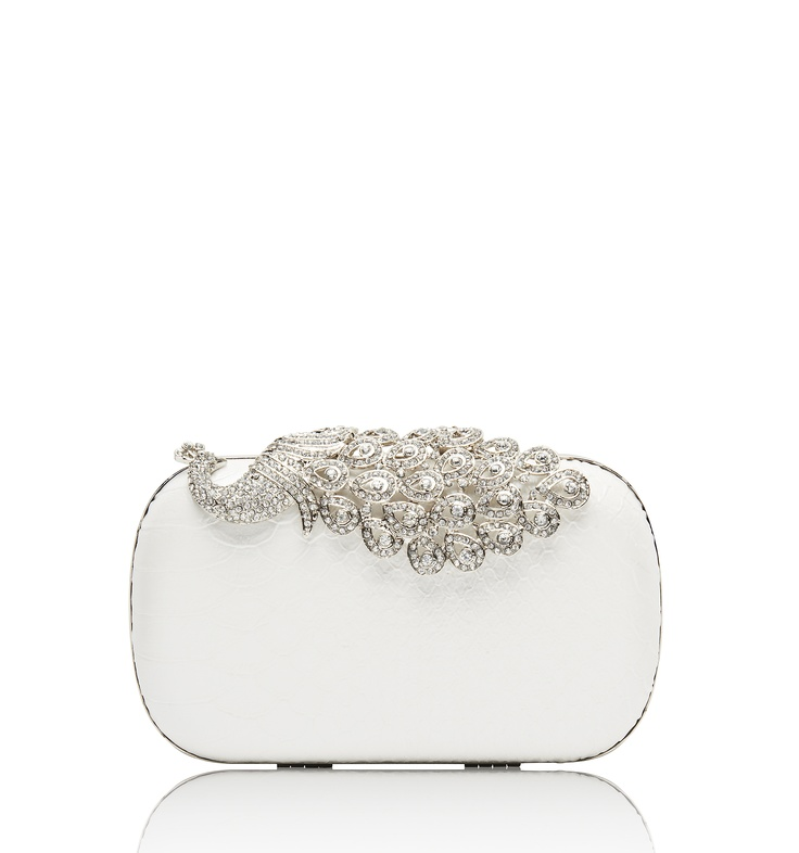 Peacock Embellished Clutch - Forever New