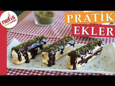 Pratik Ekler Pasta Tarifi - Nefis Yemek Tarifleri - YouTube
