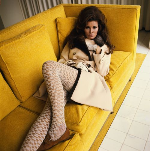 Raquel Welch in Valentino, 1967.