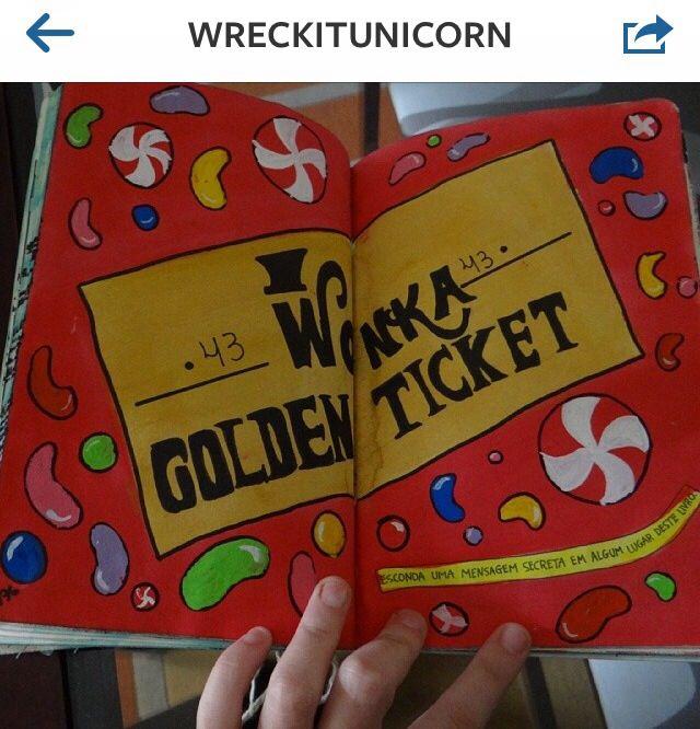 Wreck this journal hide a secret message