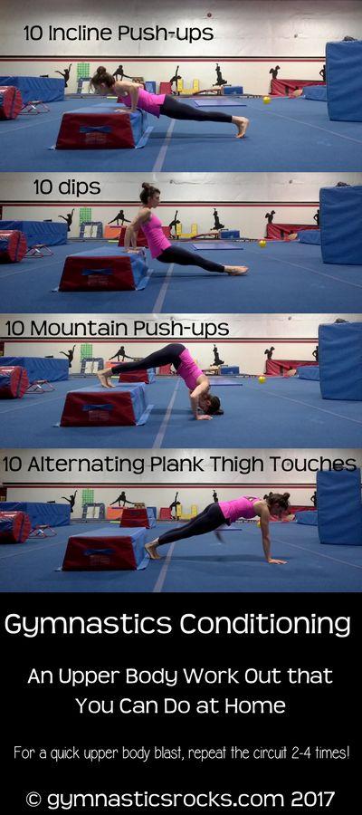 Gymnastics Conditioning at Home: Upper Body Work-Out – Gymnastics Rocks!