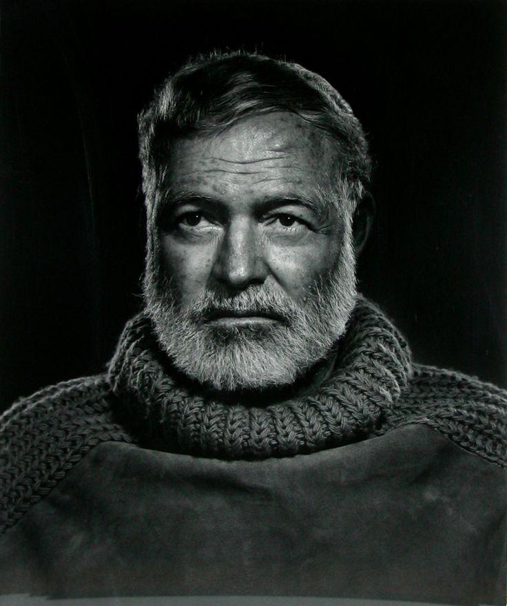 Ernest Hemmingway by Yousuf Karsh