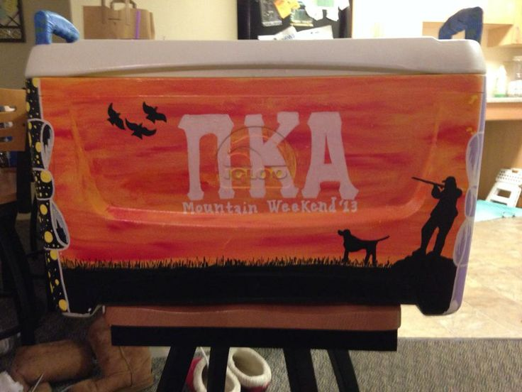 Fraternity Cooler, Pi Kappa Alpha, Cooler painting – coolers
