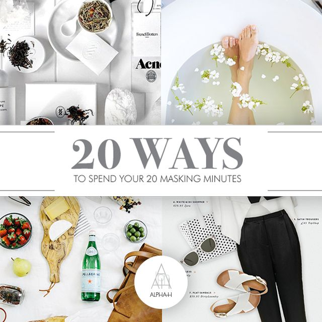 Whether it's a date or just a girls night in, face masks are mandatory. Head to the Alpha-H blog at www.alpha-h.com to find out 20 ways to spend your 20 masking minutes