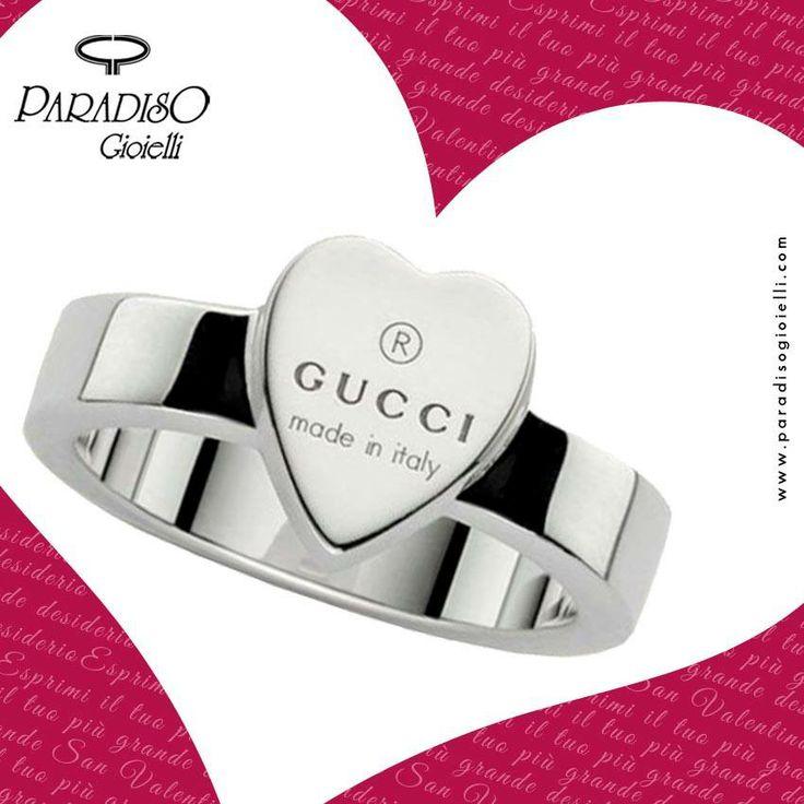 Un Regalo è sempre più bello se è fatto col Cuore  #Gucci #Trademark #Anello #Silver #Heart #Love