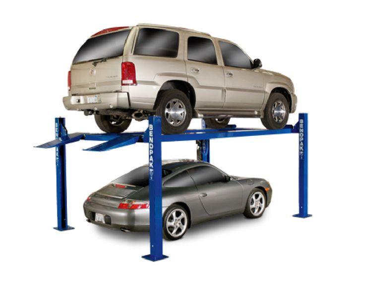 9,000 lb. Std. Width Ext. Length 4 Post Car Lift - Car Guy Garage