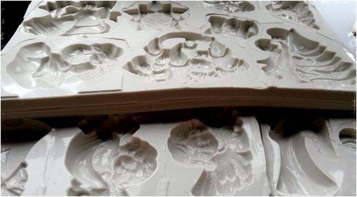 Kész szilikon sablon csokoládé formákhoz