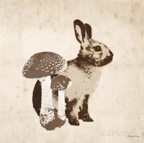 Vintage Lodge Rabbit - Posters av Morgan Yamada på AllPosters.se