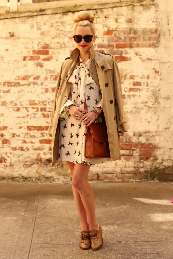 put together for fall.: Wild Heart, Outfits, Fall Style, Trenchcoat, Hors Prints, Trench Coats, The Dresses, Hair Looks, Wild Horses
