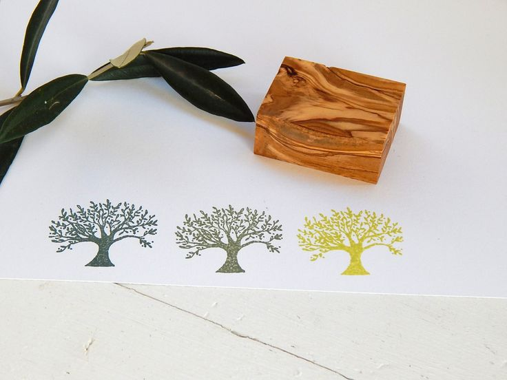 Olive Tree Olive Wood Stamp by ahueofduckeggblue on Etsy