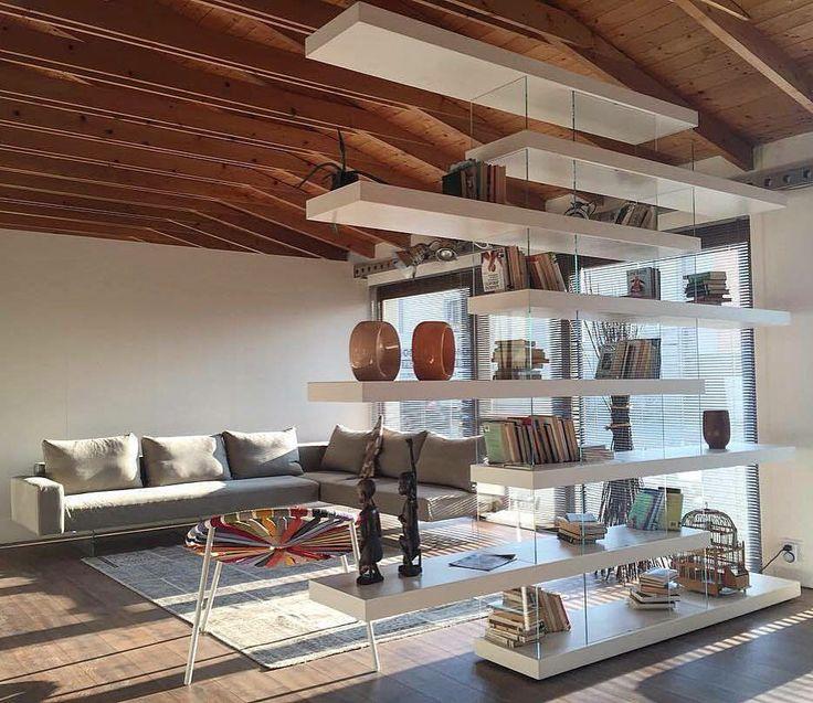 Lightness.   Air Sofa + Air Bookshelf by LAGO #lagodesign #home #homedecor #interior #livingroom