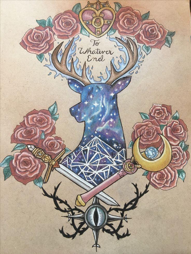 ACOTAR/ Throne of Glass/ Sailor Moon tattoo design @mscrystalbeard