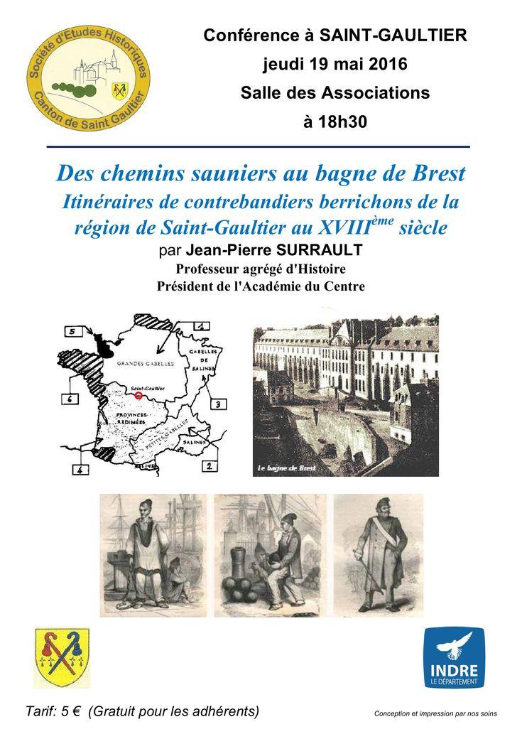 Itinéraires de contrebandiers berrichons, Saint-Gaultier, Salle des Associations, Jeudi 19 Mai 2016, 18h30