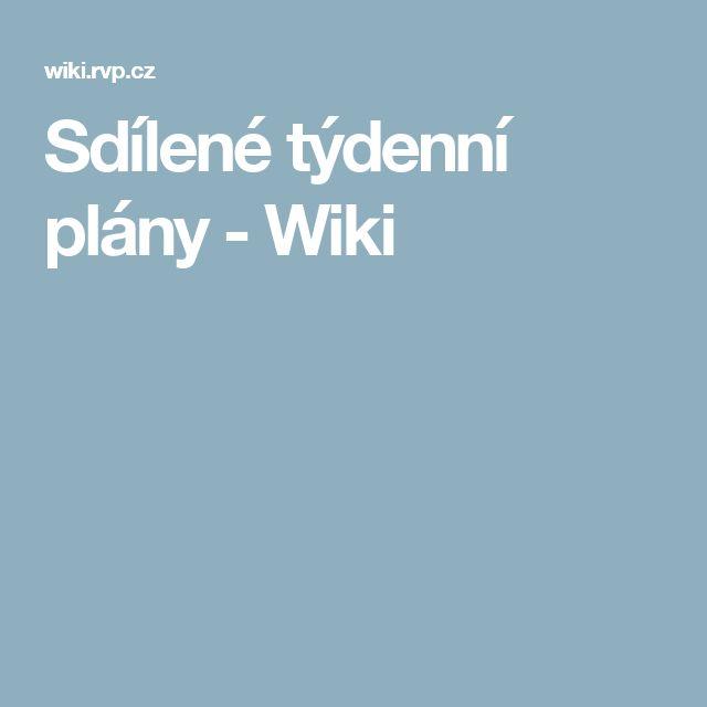 Sdílené týdenní plány - Wiki