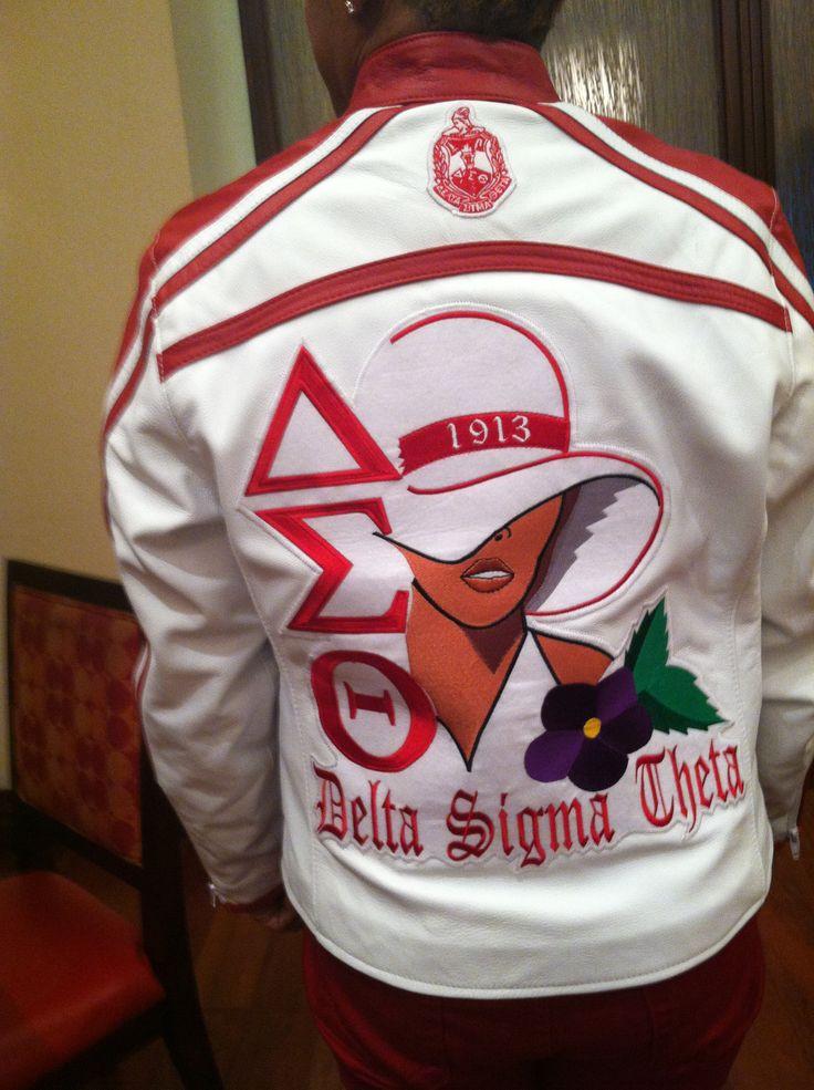 Terf Gear made this jacket Delta Sigma Theta Sorority