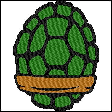 Ninja Turtle Shells Embroidery Design by DesignerStitched on Etsy