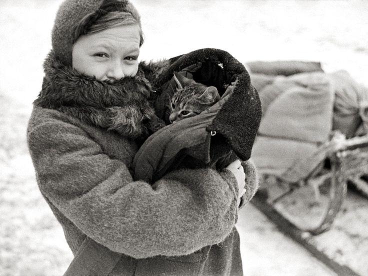 Evacuation in the winter of 1943-44. Vitebsk BYELORUSSIA.