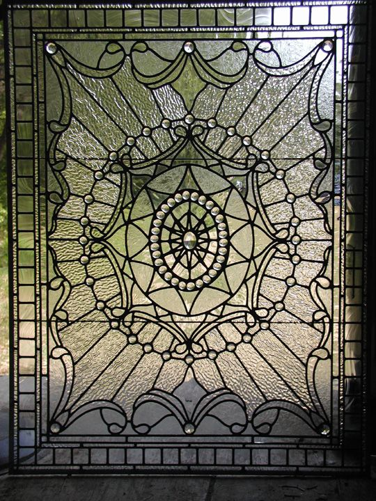 Leaded Clear Textured Gl Victorian Window